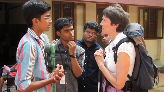 Prof Anna Lawson in India