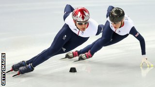 Jon Eley and Elise Christie