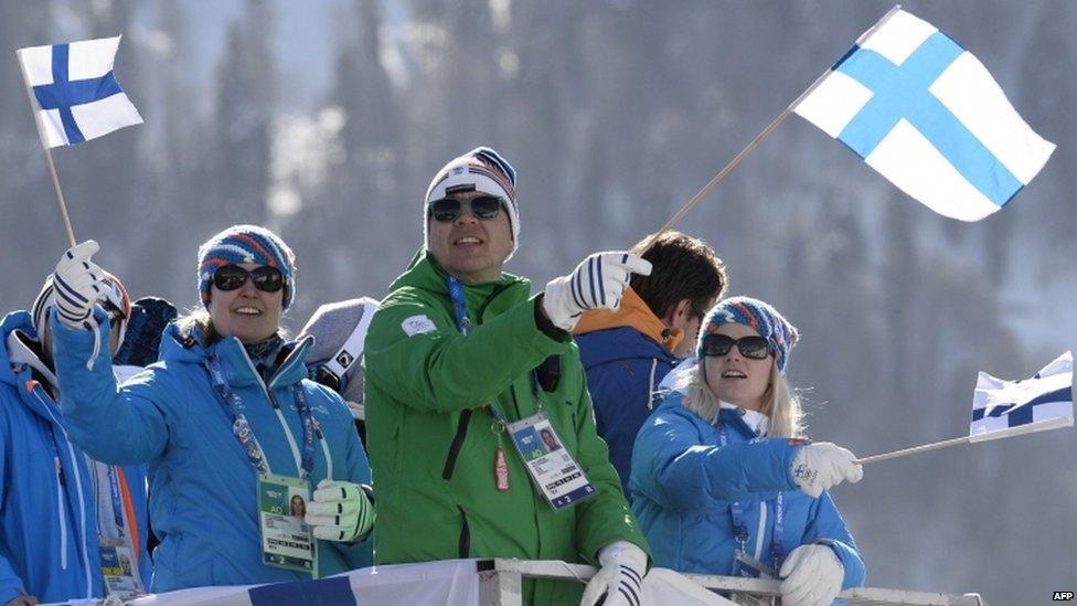 Finnish snowboarding fans