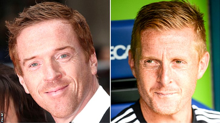 Damien Lewis and Garry Monk