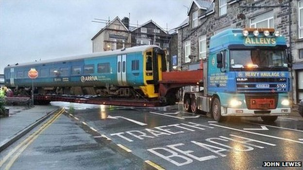 Train being taken from Barmouth to Chester (Pic: John Lewis)