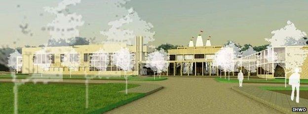 Artist's impression of the Northampton Kutumb Centre