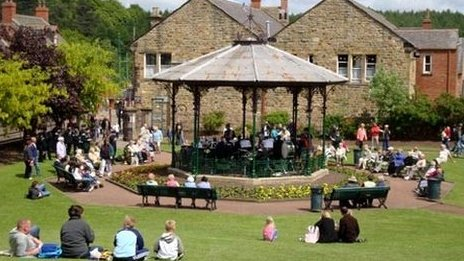 Beamish bandstand