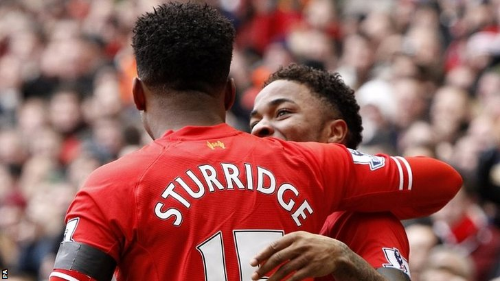 Daniel Sturridge and Raheem Sterling