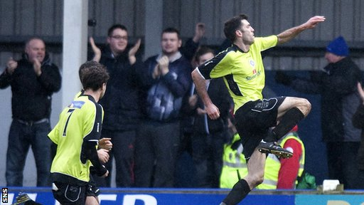 Martin Grehan was on target for Stranraer