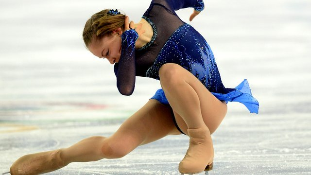 15-year old Yulia Lipnitskaya performs a stunning routine at Sochi's Iceberg Skating Palace