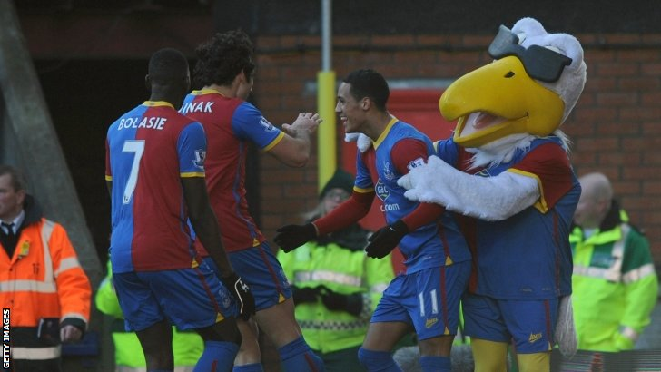 Crystal Palace celebrate scoring