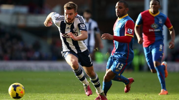 James Morrison (left) on the attack for West Brom