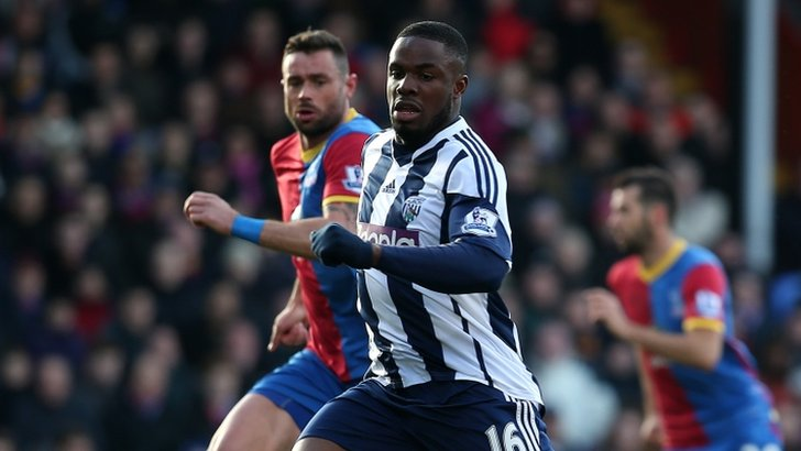 Victor Anichebe in action against West Brom