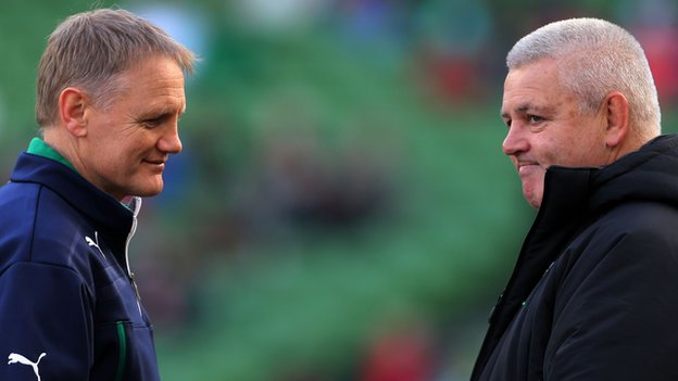 Ireland coach Joe Schmidt and Wales boss Warren Gatland
