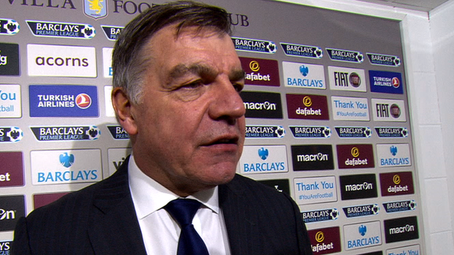 Sam Allardyce talks after West Ham's 2-0 win at Aston Villa