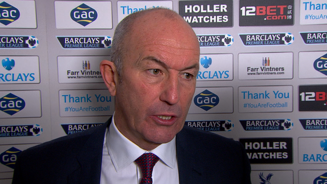 Tony Pulis praises the attitude of his squad after the Eagles beat West Brom 3-1 at Selhurst Park.