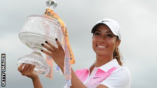 Cheyenne Woods wins the first professional title of her career by winning the Australian Ladies Masters