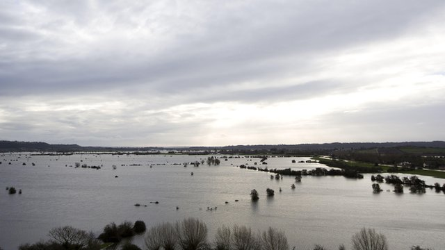 Somerset Levels at Burrowbridge on 9 February 2014