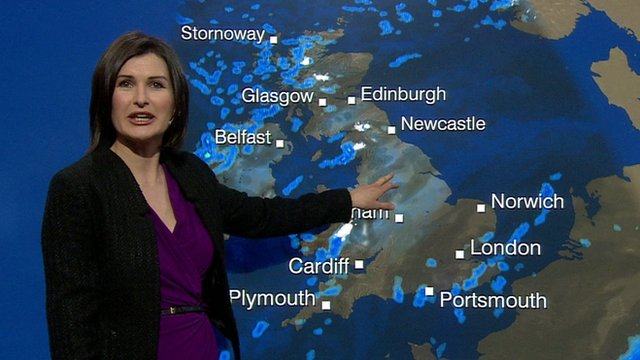 BBC Weather presenter Helen Willetts