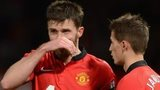A disappointed Michael Carrick