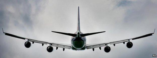 A Boeing 747 in flight