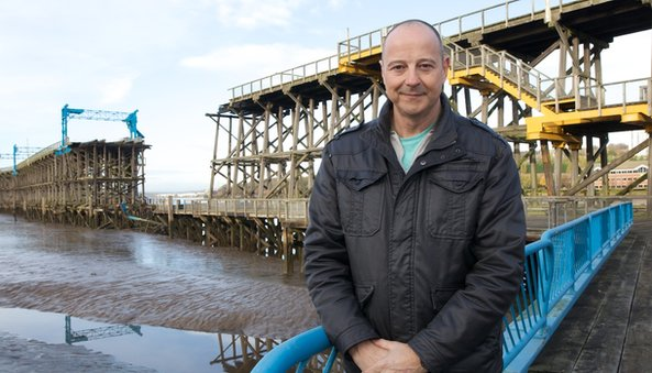 Chris Jackson in front of Dunston staithes