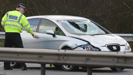 Vehicle involved in the crash on the M23