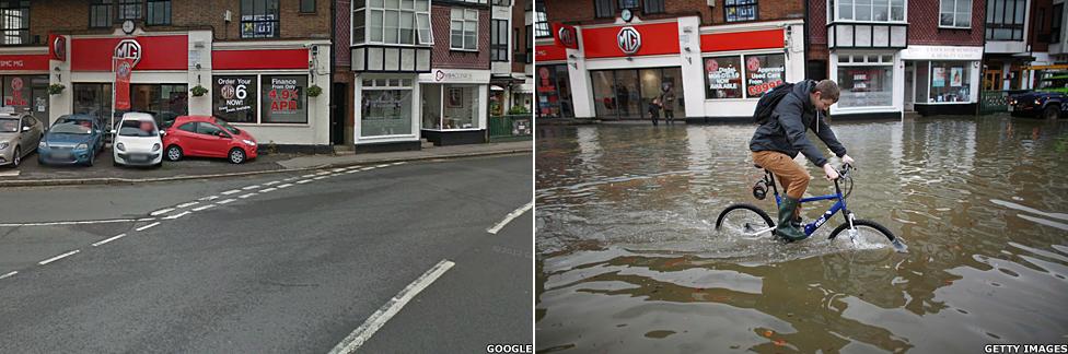 Datchet in the floods