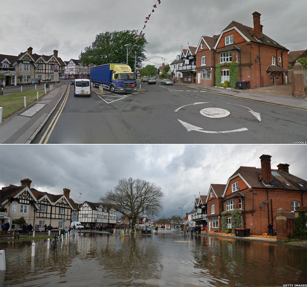 Datchet in the floods