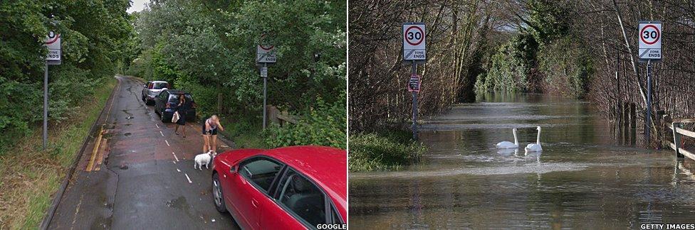 Eton in the floods