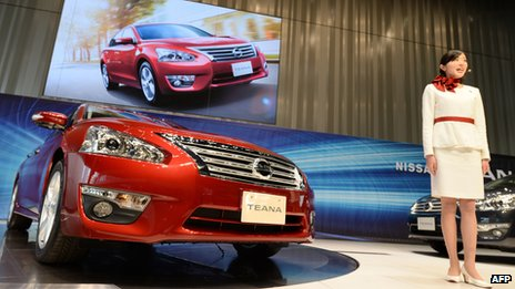 Nissan Motor introduces its new Teana vehicle