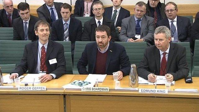 Roger Gerren, Chris Boardman and Edmund King.