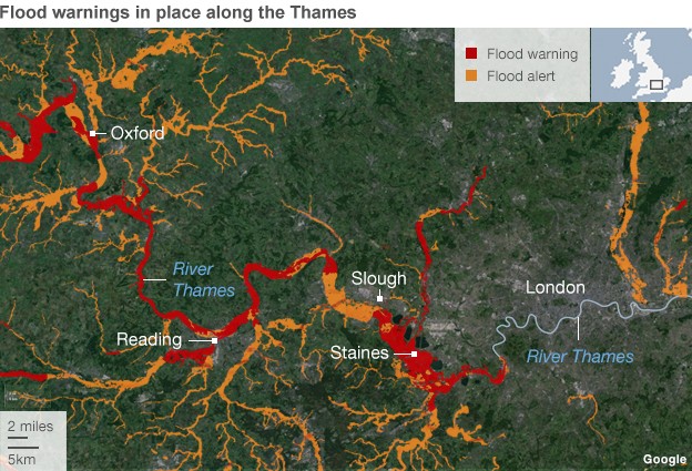 Flooding England Map.Uk Floods Swollen Thames Threatens Thousands Of Homes Virgin