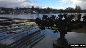 Flooding at the Leander Club. Photo: Tim Dellor