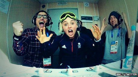 Snowboarding commentators