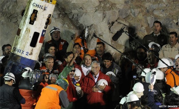 Luis Urzua, the last of the 33 Chilean miners to be rescued