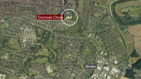 Dunrose Close map
