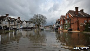 Flooding in Datchet, Berkshire