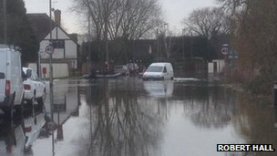 Flooding in Staines upon Thames, Surrey