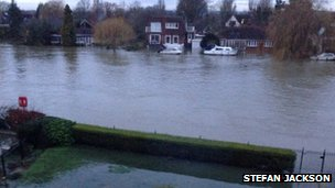Flooding in Staines