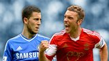 Eden Hazard and Rickie Lambert