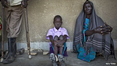 School used as a clinic for victims of fighting in South Sudan