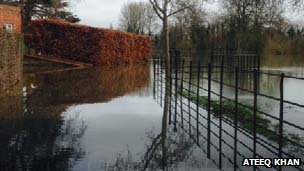 Flooding at Eton College, Windsor, Berkshire
