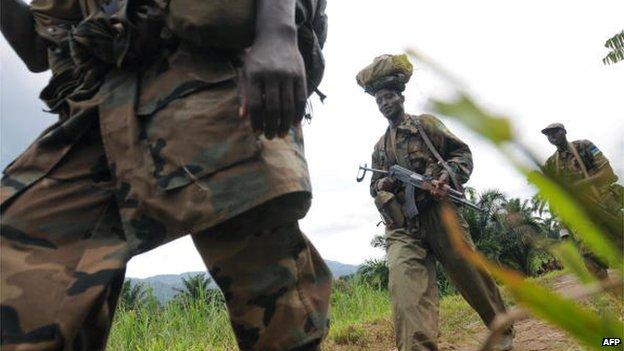 Rwandan troops in DR Congo