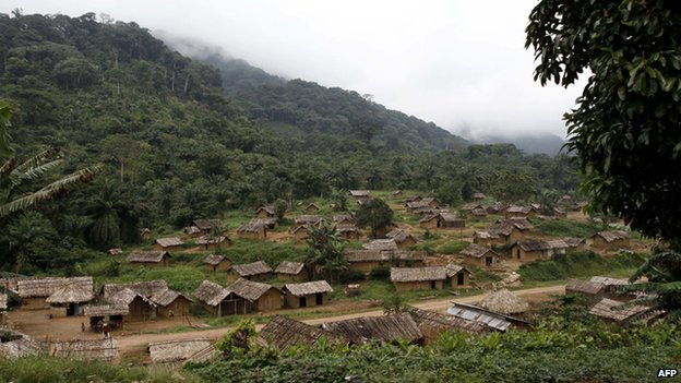 Village in eastern DR Congo