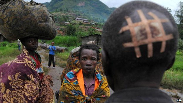 Wounded man in DR Congo (file photo)