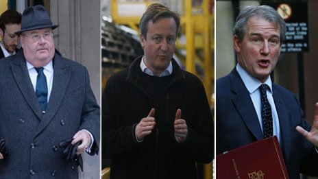 Eric Pickles, David Cameron and Owen Paterson