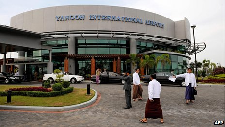 The main terminal building at Yangon International Airport