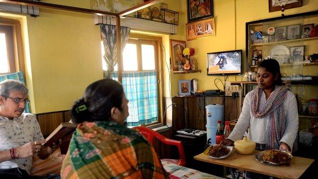 A maid in Calcutta