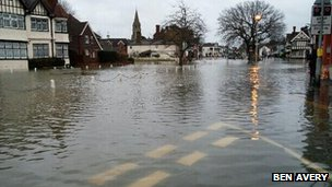 Datchet in floods. Photo: Ben Avery