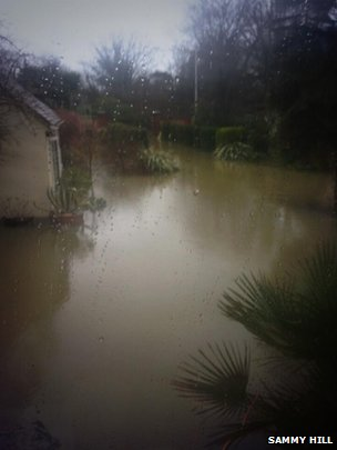 Flooding in Wraysbury. Photo: Sammy Hill