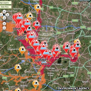 Floods map