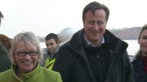 David Cameron in Dawlish