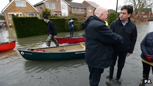 Labour leader Ed Miliband in Purley on Thames